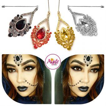Madz Fashionz UK: ItsCutieBeauty Exquisite Nawab Bridal Hijab Pins, Hijab Jewels Gold Red Champagne Silver Black White