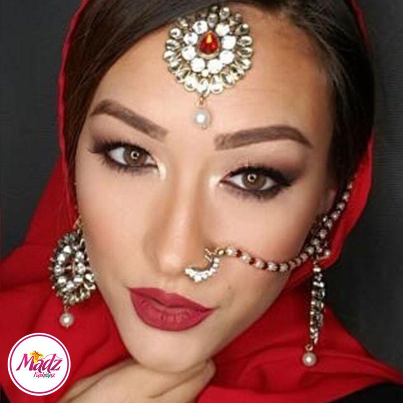 Madz Fashionz UK: MSPaintedlady Pearled Bridal Nose Ring Nath Indian Bullaku Nathu