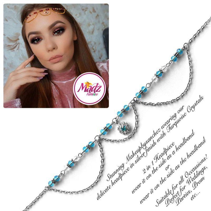 Madz Fashionz UK: Makeupbysanchez Bespoke Delicate Matha Patti Silver Sky Blue