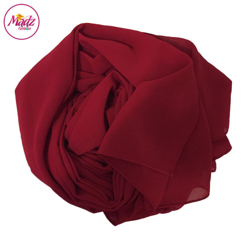Madz Fashionz UK: Long Maxi Plain Chiffon Burgundy Muslim Hijabs Scarves Shawls