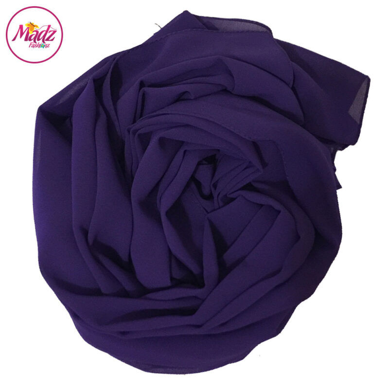 Madz Fashionz UK: Long Maxi Plain Chiffon Purple Muslim Hijabs Scarves Shawls