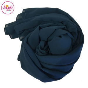Madz Fashionz UK: Long Maxi Plain Chiffon Teal Blue Muslim Hijabs Scarves Shawls