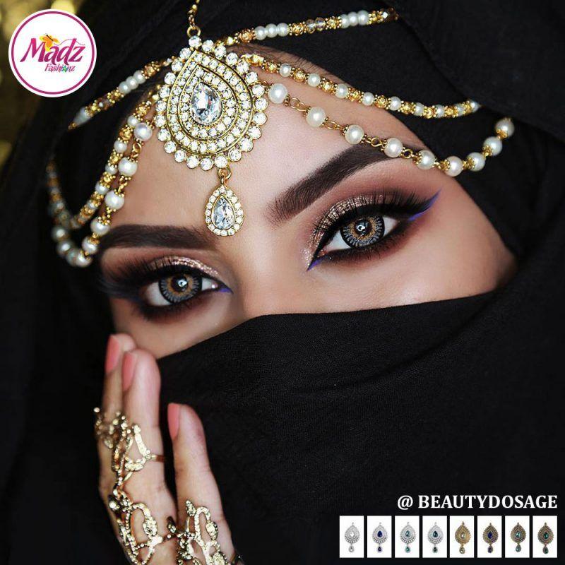 Madz Fashionz UK: Beautydosage Bridal Crystal Drop Matha Patti Headpiece Hair