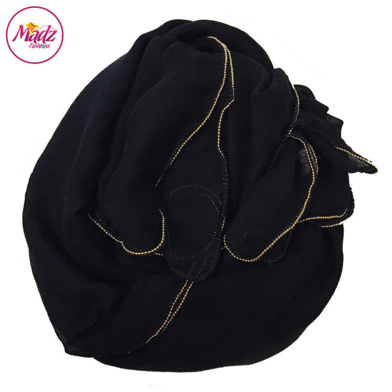 Madz Fashionz UK: Long Maxi Plain Luxury Cotton Pellet Black Muslim Hijabs Scarves Shawls