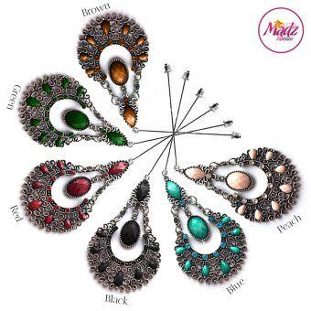 Madz Fashionz UK: Taybah Hijab Pin Hijab Jewels Stick Pins Silver Black Blue Green Peach Red Brown
