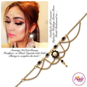 Madz Fashionz UK: Itscutiebeauty Bespoke Matha Patti Headpiece Gold Black