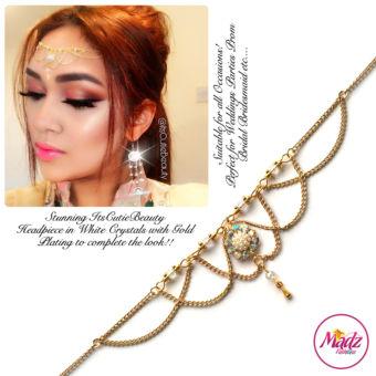 Madz Fashionz UK: Itscutiebeauty Bespoke Matha Patti Headpiece Gold White