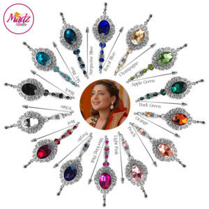 Madz Fashionz UK: Shiny Dixit Chandelier Hijab Pin Stick Pin Hijab Jewels Zee Tv ZKM Silver