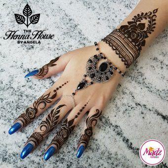 Madz Fashionz UK: Hennabyang Angela Traditional Kundan Crystal Hand chain Slave Bracelet Tikka Set Silver Gold Black Red Blue Green Brown Peach