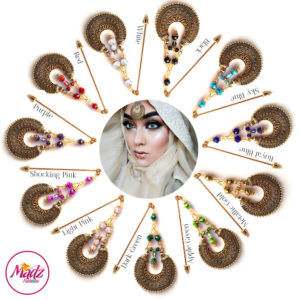 Madz Fashionz UK: ItsCutieBeauty Kundan Hijab Pin Stick Pin Hijab Jewels Hijab Pins Antique Gold Finish