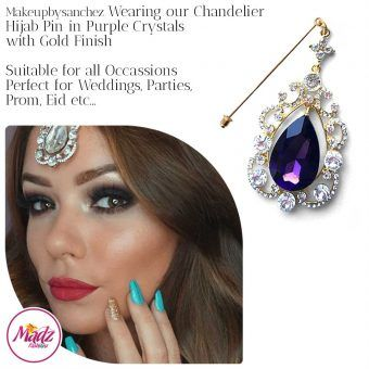 Madz Fashionz UK: Makeupbysanchez Chandelier Drop Hijab Pin Stick Pin Hijab Jewels Hijab Pins Gold Purple