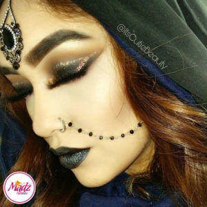 Madz Fashionz UK: ItsCutieBeauty Crystal Pearl Nose Rings Nath Indian Gold Silver Black White