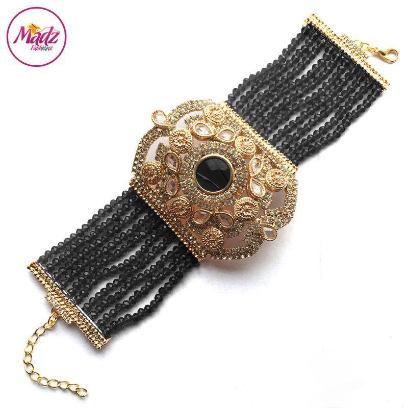 Madz Fashionz UK: Bridal Hennabyang Imperial Jhoda Cuff Bracelet Handpiece Angla Gold Black