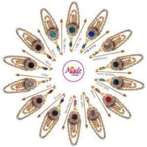 Madz Fashionz UK: Mehfooza Chandelier Drop Hijab Pin Hijab Jewels Stick Pins Gold Chained