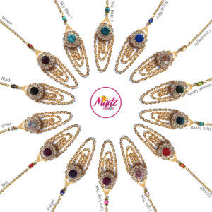 Madz Fashionz UK: Mehfooza Chandelier Maang Tikka Hair Tikka Gold Multi Chained Tassel