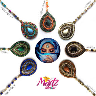 Madz Fashionz UK: Beautydosage Chandelier Maang Tikka Gold White