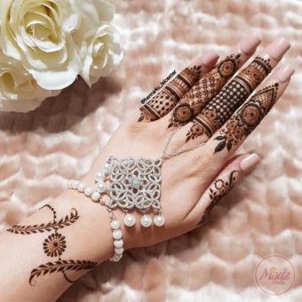 Madz Fashionz UK: Henna4u_Leicester Bridal Hand chain Slave Bracelet Kundan Gold Silver