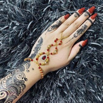 Bridal Hand Piece , Hand Harness , Hand Chain - MadZFashionZ UK