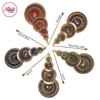 Madz Fashionz USA: Simmysbeauty Hijab Pin, Hijab Jewels Stick Pin Brown Royal Blue Green Pink Orange