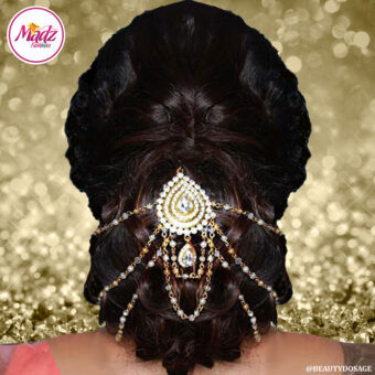 Madz Fashionz USA: Beautydosage Bridal Hair Bun Headpiece Jodha Gold 1