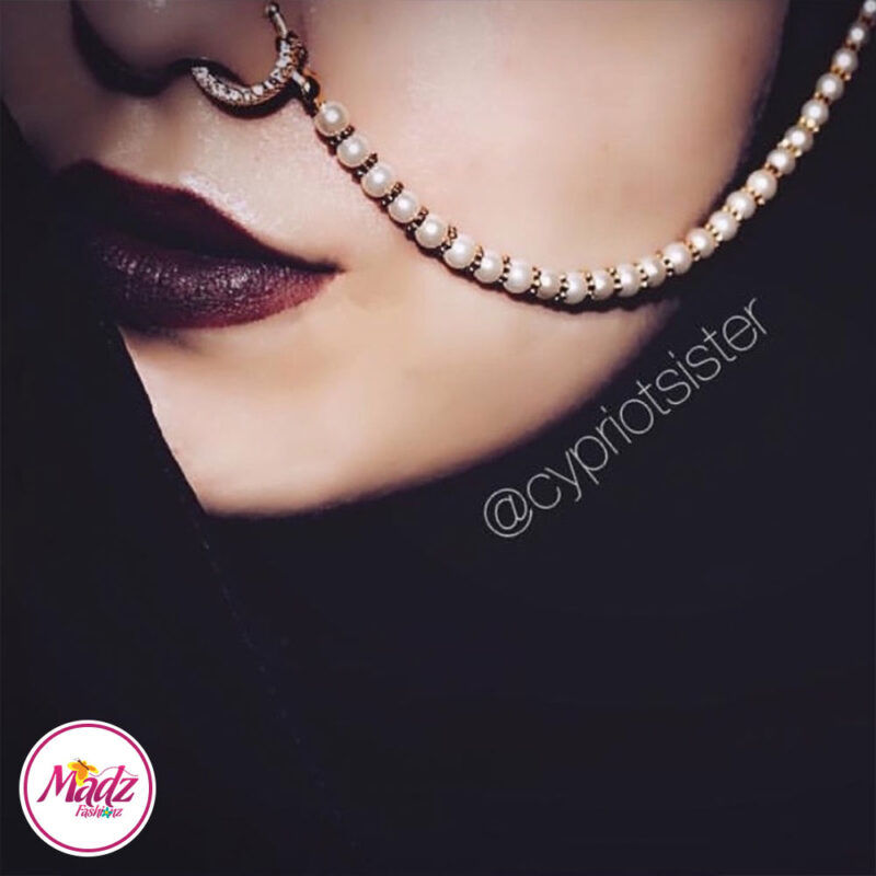 Madz Fashionz USA: Cypriotsister Pearl Indian Nose Ring Nath Bullaku Nathu Gold Silver