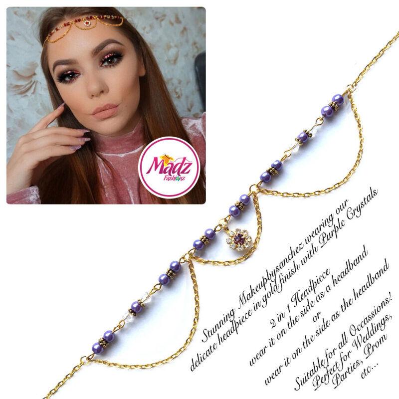 Madz Fashionz USA: Makeupbysanchez Bespoke Delicate Matha Patti Gold purple
