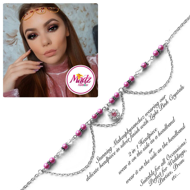 Madz Fashionz USA: Makeupbysanchez Bespoke Delicate Matha Patti Silver Hot Pink