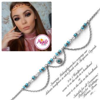 Madz Fashionz USA: Makeupbysanchez Bespoke Delicate Matha Patti Silver Sky Blue