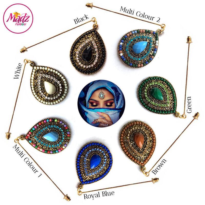 Madz Fashionz USA: Beautydosage Hijab Pin Hijab Jewels Stick Pins Gold