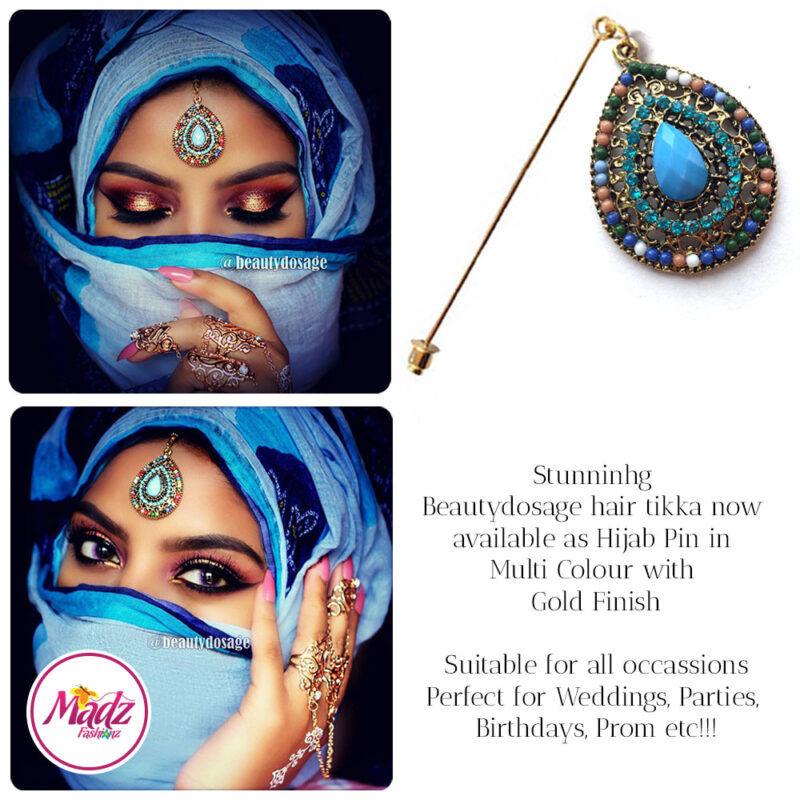 Madz Fashionz USA: Beautydosage Hijab Pin Hijab Jewels Stick Pins Gold Multicolor 1