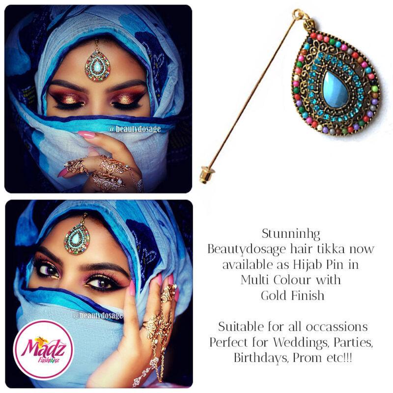 Madz Fashionz USA: Beautydosage Hijab Pin Hijab Jewels Stick Pins Gold Multicolor 2