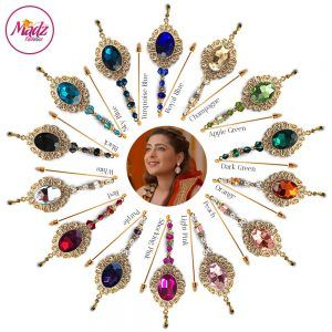 Madz Fashionz USA: Shiny Dixit Chandelier Hijab Pin Stick Pin Hijab Jewels Zee Tv ZKM Gold