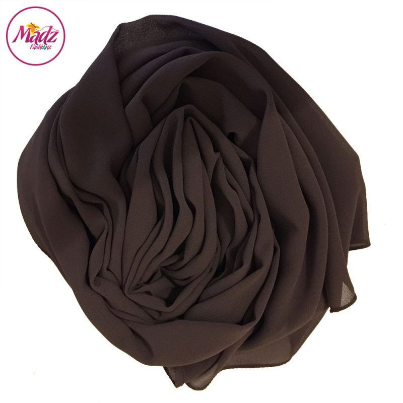 Madz Fashionz USA: Long Maxi Plain Chiffon Chocolate Muslim Hijabs Scarves Shawls