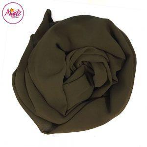 Madz Fashionz USA: Long Maxi Plain Chiffon Olive Muslim Hijabs Scarves Shawls