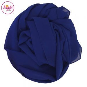 Madz Fashionz USA: Long Maxi Plain Chiffon Royal Blue Muslim Hijabs Scarves Shawls