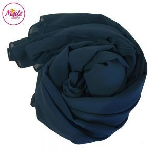 Madz Fashionz USA: Long Maxi Plain Chiffon Teal Blue Muslim Hijabs Scarves Shawls