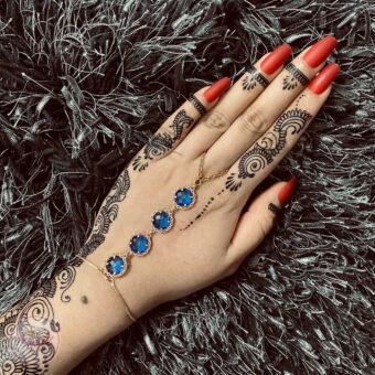 Blue hand chain , Slave bracelet , Bridal hand piece - Madz Fashionz USA