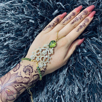 Bridal Hand Chain , Slave Bracelet , Hand Harness - Madz Fashionz USA
