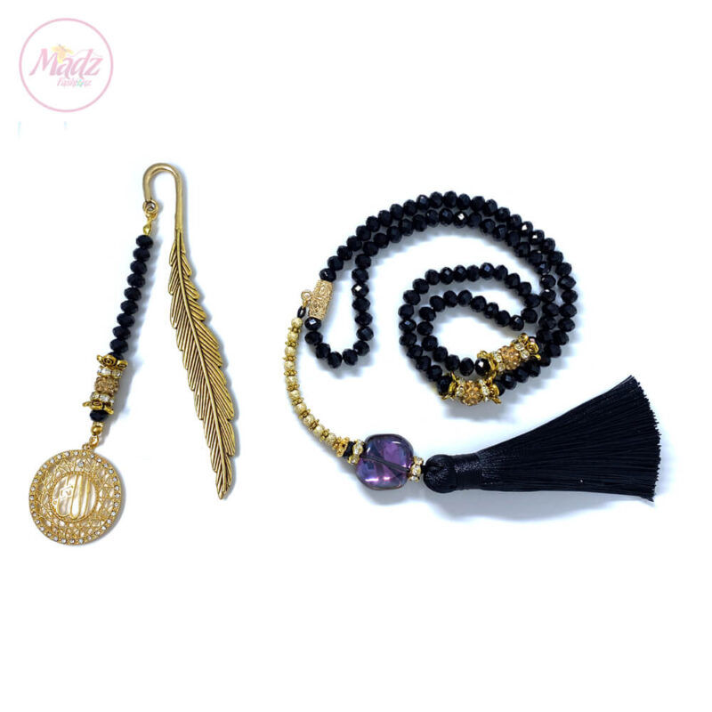 Black Tasbeeh 99 Beads , Ramadan / Eid Gifts Set - MadZFashionZ USA