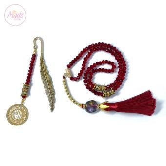 Red Tasbeeh 99 Beads , Ramadan Islamic Gifts Set - MadZFashionZ USA