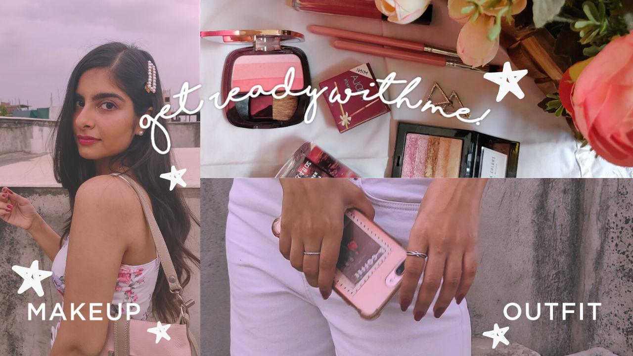 Summer Pink Makeup & Outfit