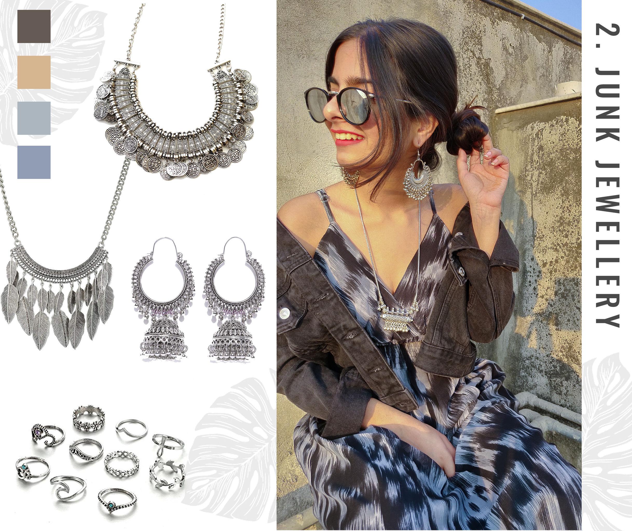 Bohemian Style Moodboard: Junk Jewellery