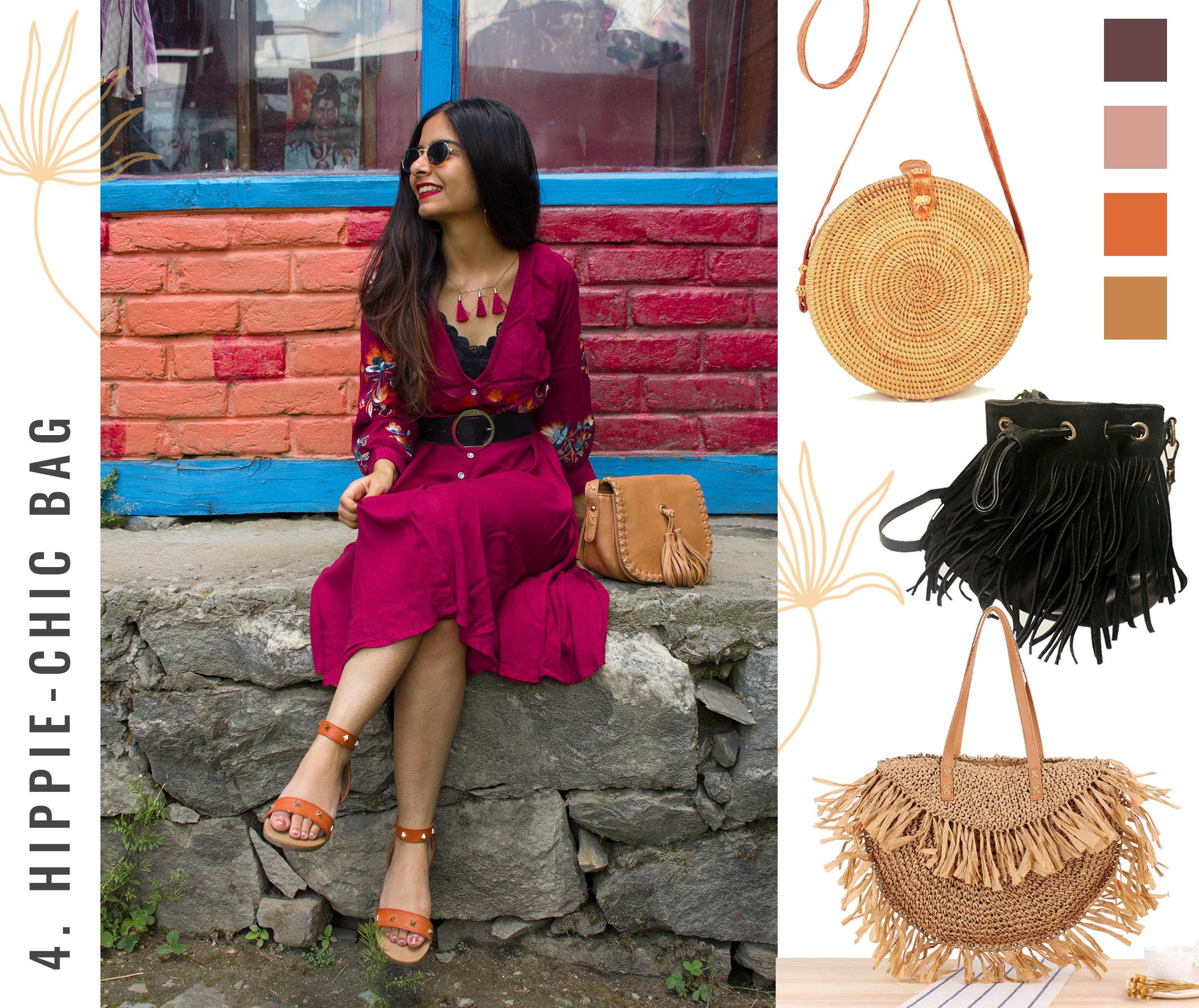 Bohemian Style Moodboard: Hippie Chic Bag