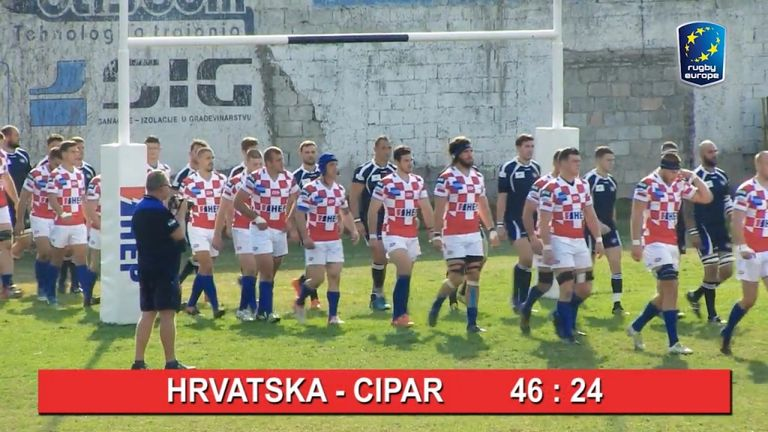 Hrvatska 46 - 24 Cipar: Europski Kup Nacija 2018/2019