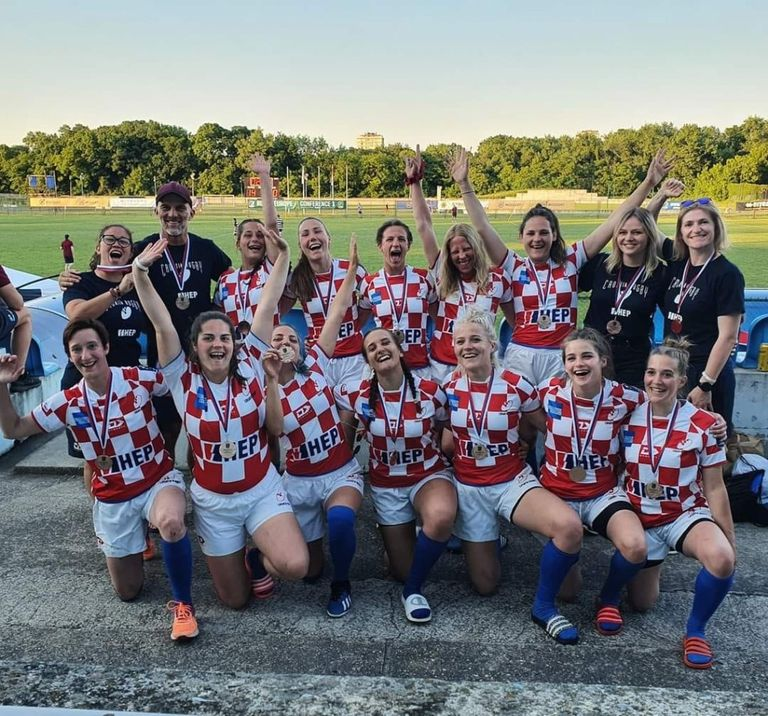 Hrvatska ženska ragbi 7 reprezentacija na Europskom prvenstvu skupine Conference osvojila 3. mjesto