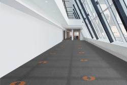 Carpet Tile Designed for Social Distancing & Safety Guidelines