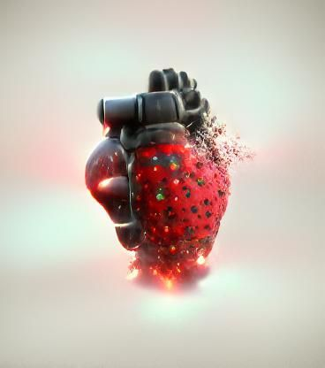Strawberry hand grenade just started to explode