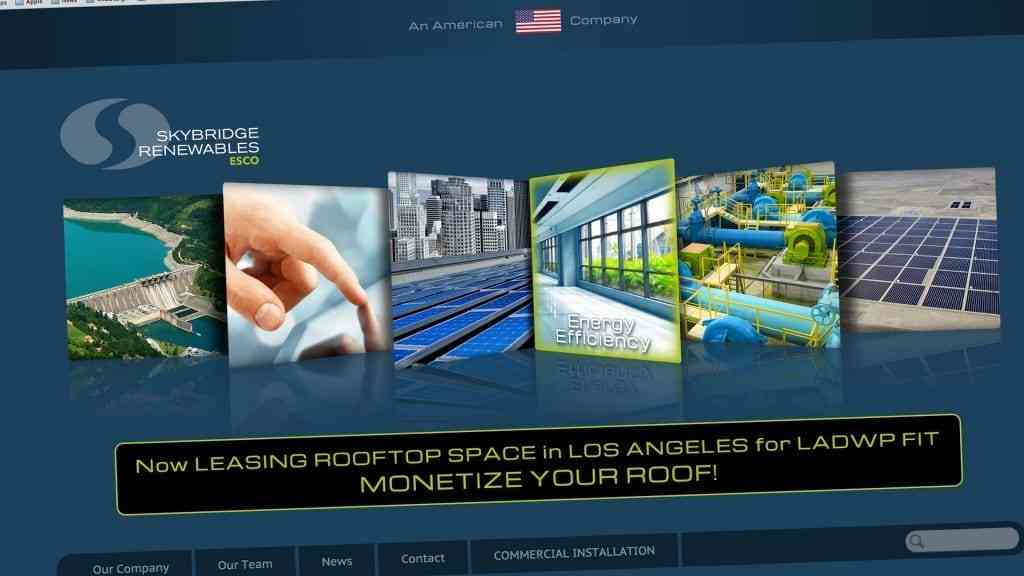 Skybridge Renewables Homepage
