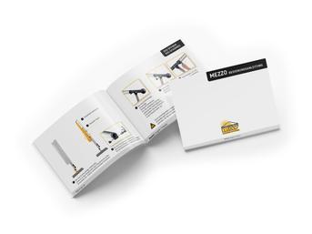 Weiße A5 Broschüre