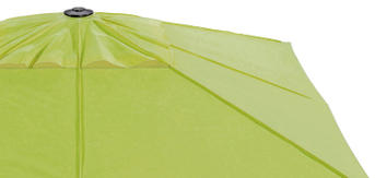 Grünes Schirmdach als Variante Bespannungshaube